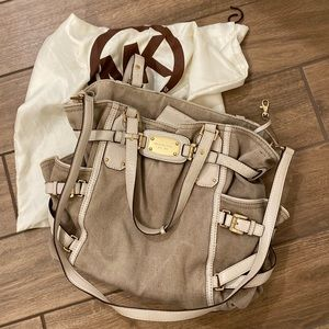 Michael Kors Canvas and Leather Accent Handbag